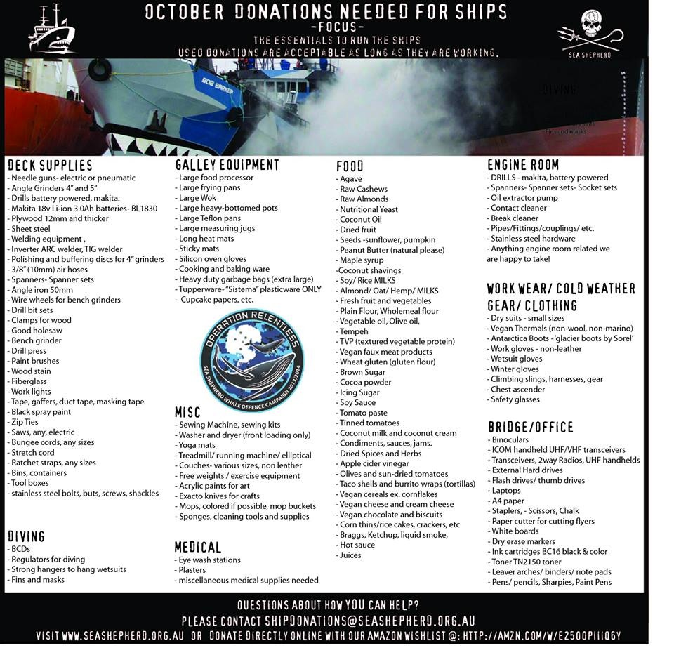 POWERSTAR FOOD FUER SEA SHEPHERD WISHLIST
