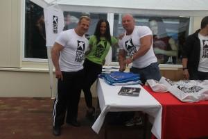 Die Powerstar Food Athleten Achim Weitz, Antonella Trantaki und Martin Dudas