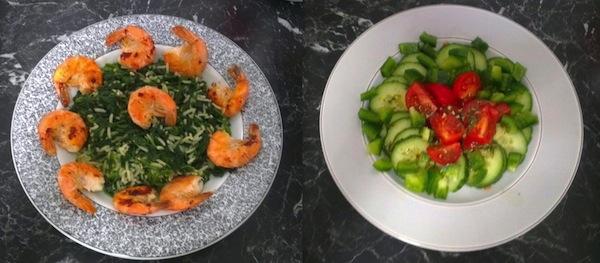 Antonella Trantaki Garnelen Spinatreis POWERSTAR FOOD