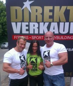 Die 3 Powerstar Food Athleten Achim Weitz, Antonella Trantaki und Martin Dudas