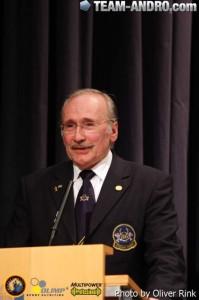 Der Präsident des DBFV Erich Janner