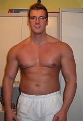 Athlet des Monats Maerz 2014 Marvin Paul Vor der Diaet 105kg