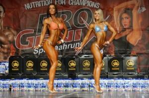 Gesamtsiegerstechen der Bikiniklasse B.-W. Meisterschaft 2014, Nadine Müller und Johanna Sander (v.l.n.r)