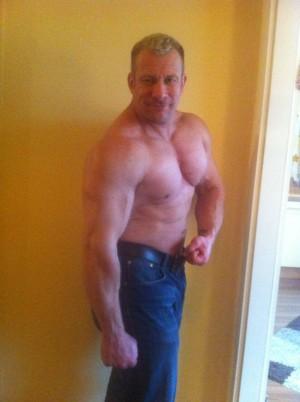 Anfang 2014, 105 kg und ziemlich außer Form!