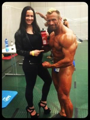 Powerstar Food Athletin Antonella Trantaki natürlich eine der ersten Gratulanten!