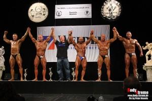 Siegerehrung in der Mastersklasse 40 - 49 Jahre bis 90 kg