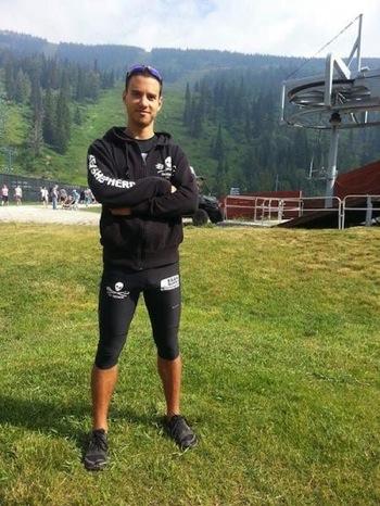 Vegan Supps Athlet Gwendal le Tutour vor dem Marathon