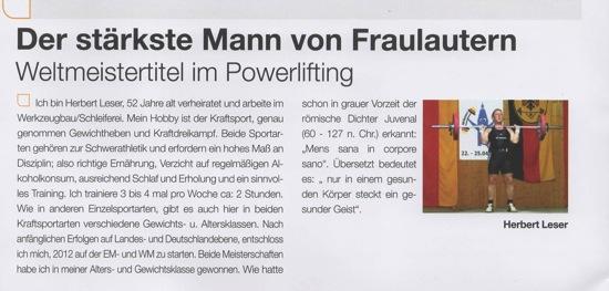 Herbert Leser PSF Athlet des Monats 03 2015