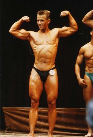 Erster Wettkampf, 1991 im Alter von 19 Jahren