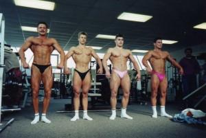 Leistungsgruppe Sportstudio Ferrante 1991, Achim Weitz, 2 v. links mit ca. 68 kg