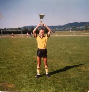 Die Vorliebe für Pokale was schon früh ausgeprägt, Achim Weitz im Alter von ca. 13/14 Jahren