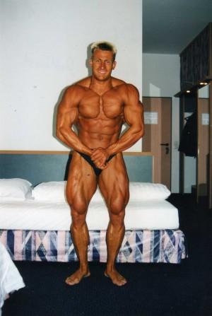 1998 im Hotel vor einer Meisterschaft, Wettkampfgewicht ca. 83 kg